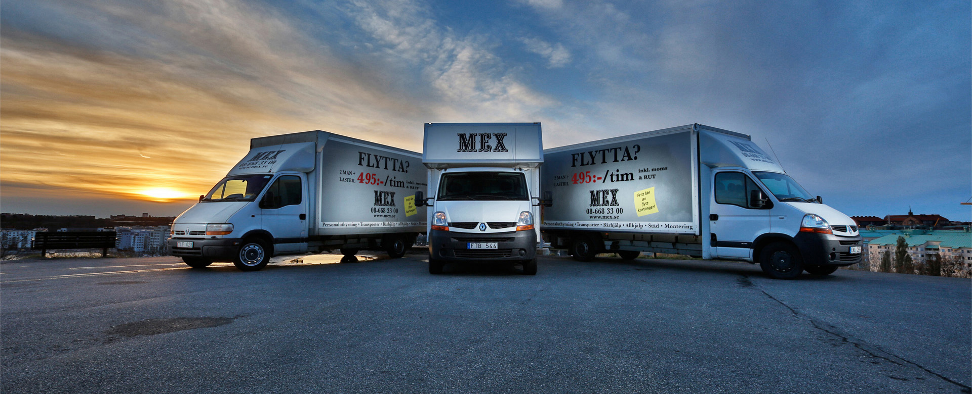 Mex nya flyttbilar